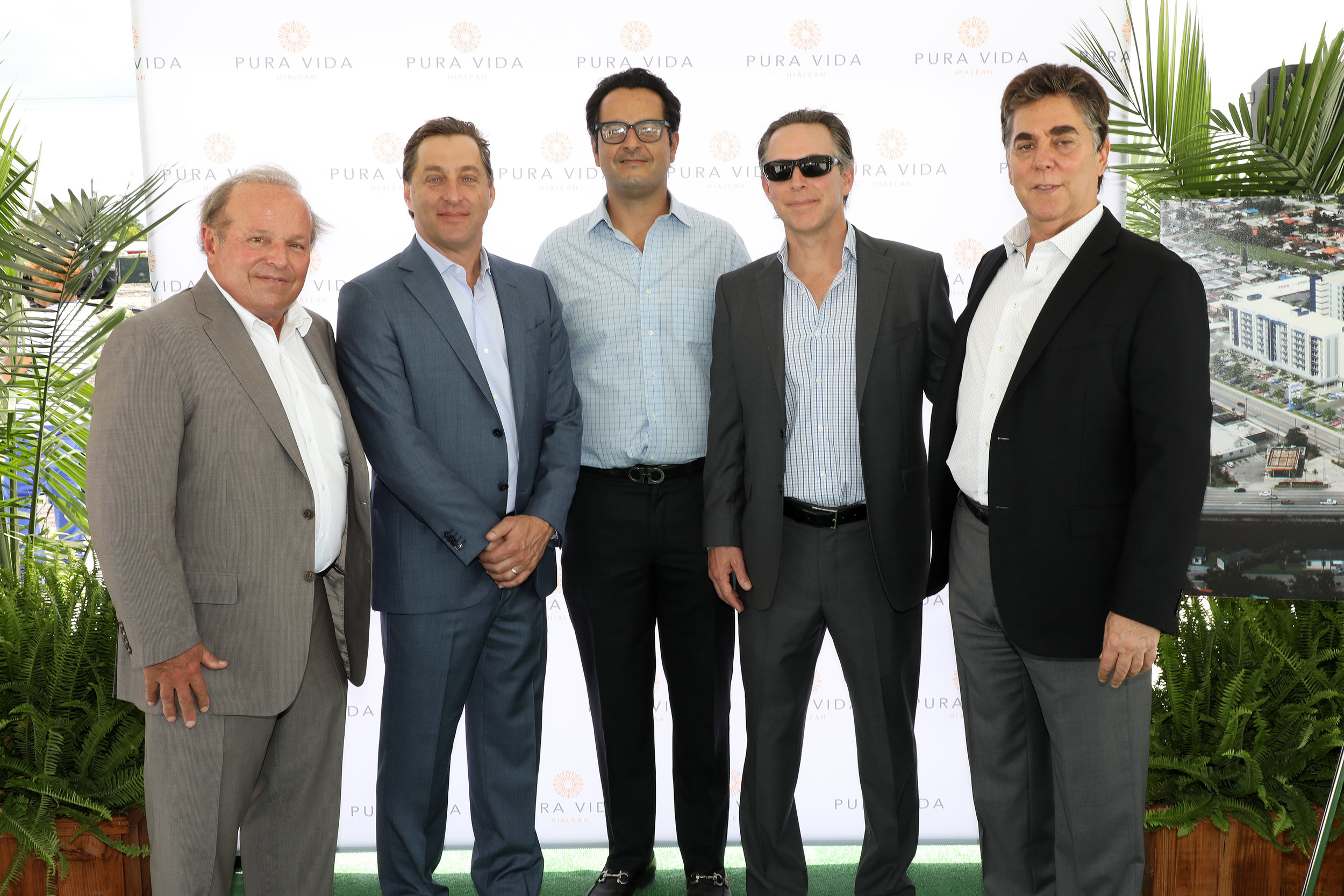 From L-R: Michael Wohl, Principal of Coral Rock Development Group; David Brown, Principal of Coral Rock Development Group; Oscar Rodriguez, Arena Capital Holdings; Victor Brown, Principal of Coral Rock Development Group; Stephen A. Blumenthal, Principal of Coral Rock Development Group