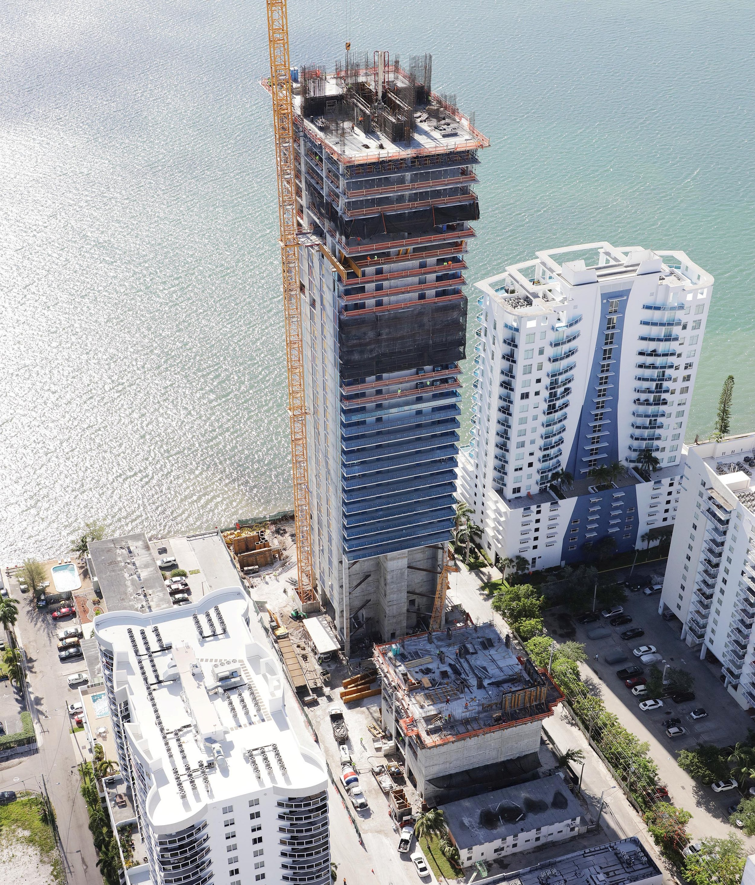 The Arquitectonica-Designed Elysee Begins To Take Shape In Edgewater As Construction Passes The Halfway Point