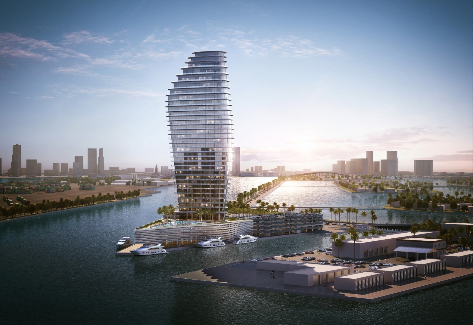 Related Group Reveals Arquitectonica-Designed One Island Park On Miami Beach's Terminal Island