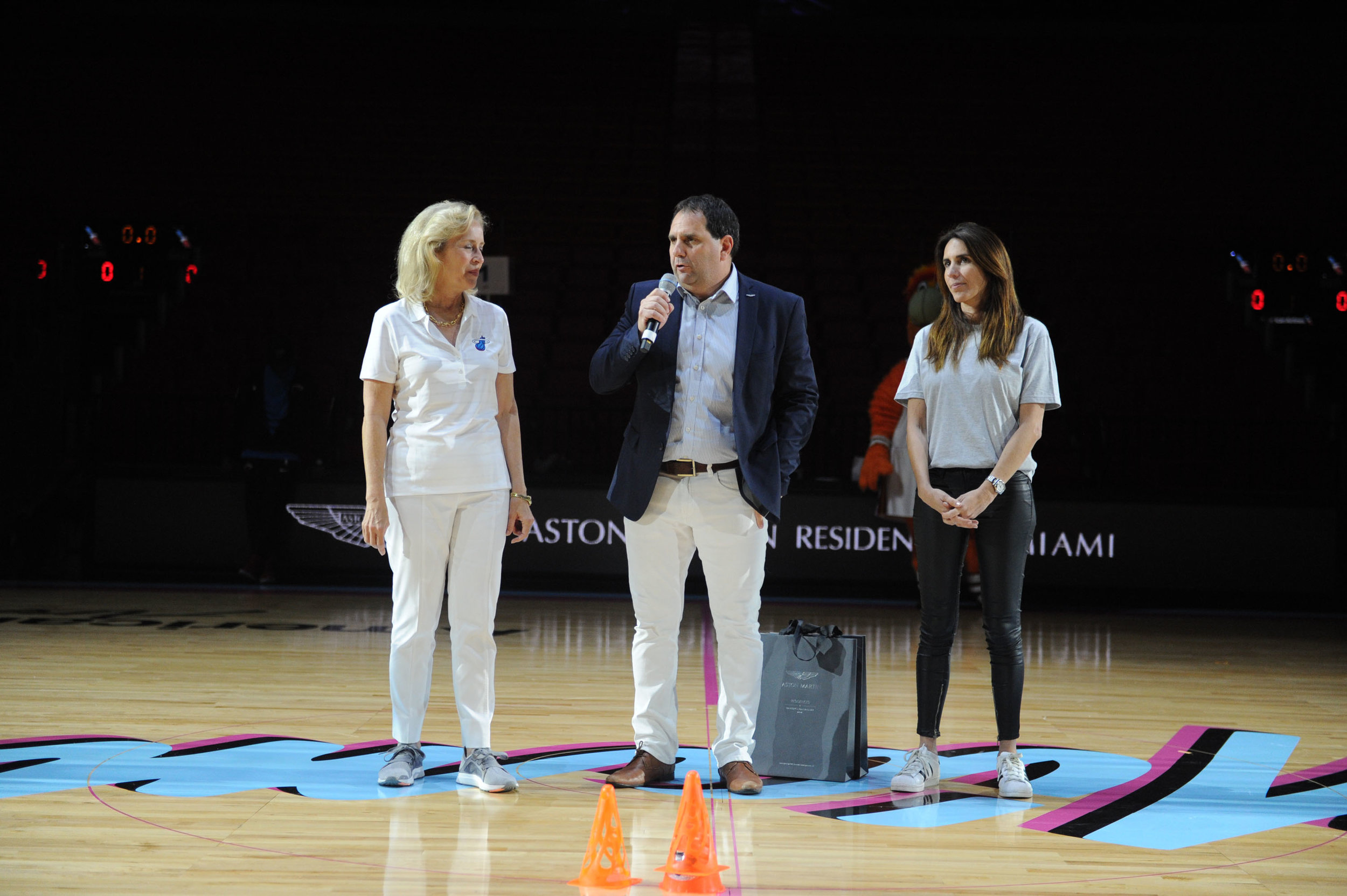 "Alicia Cervera Lamadrid, Alejandro Aljanati, & Maru Alvarez Speaking Aston Martin Residences and The Miami Heat Present ""Legend's Court"" To Commemorate Premium Corporate Partnership"