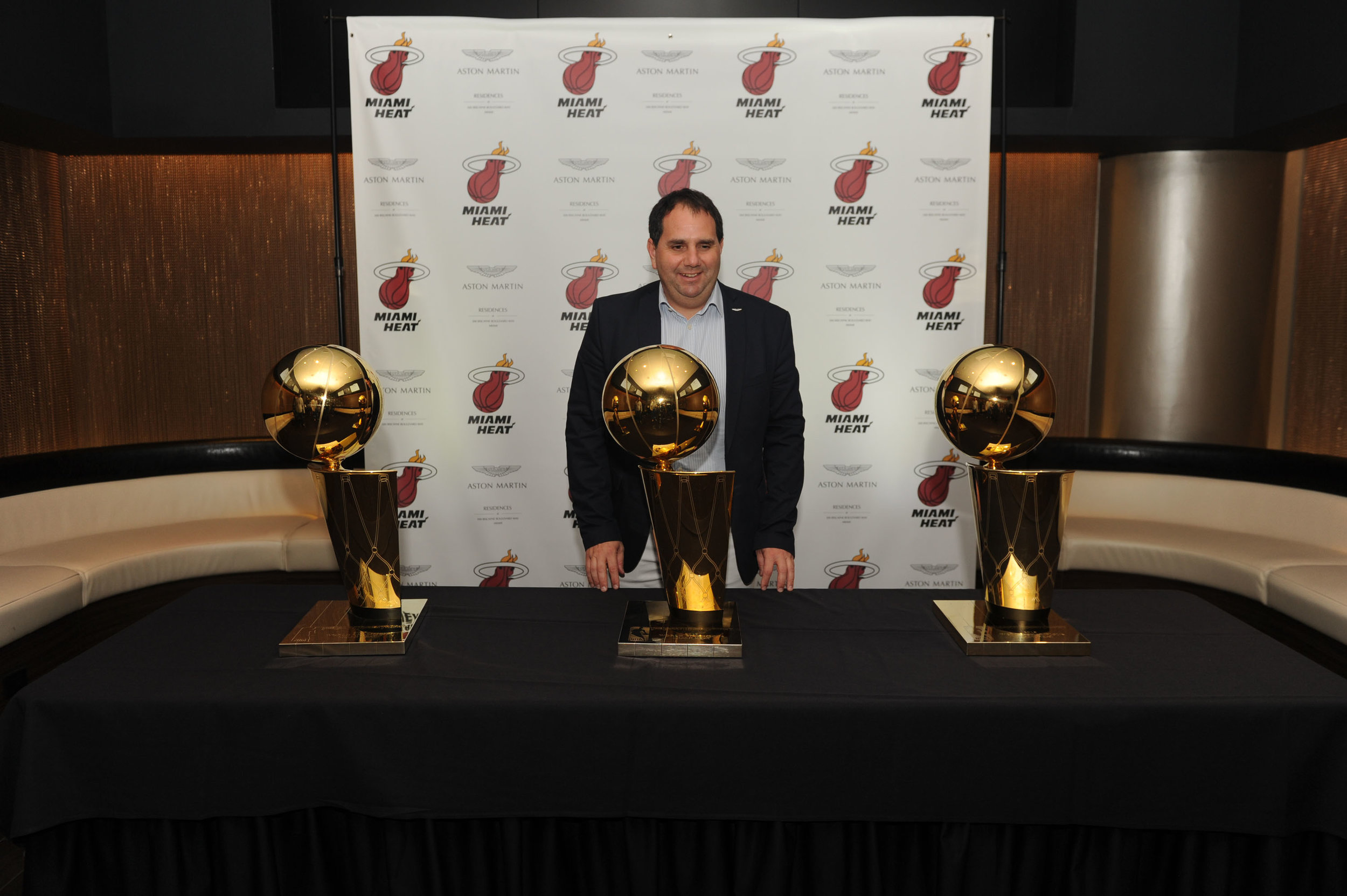 "Alejandro Aljanati Aston Martin Residences and The Miami Heat Present ""Legend's Court"" To Commemorate Premium Corporate Partnership"