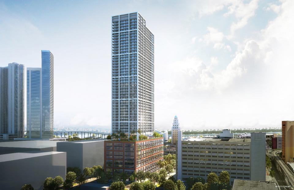 """Newgard Development & Crescent Heights Propose Natiivo Tower In Downtown Miami """"Powered By AirBNB"""""""