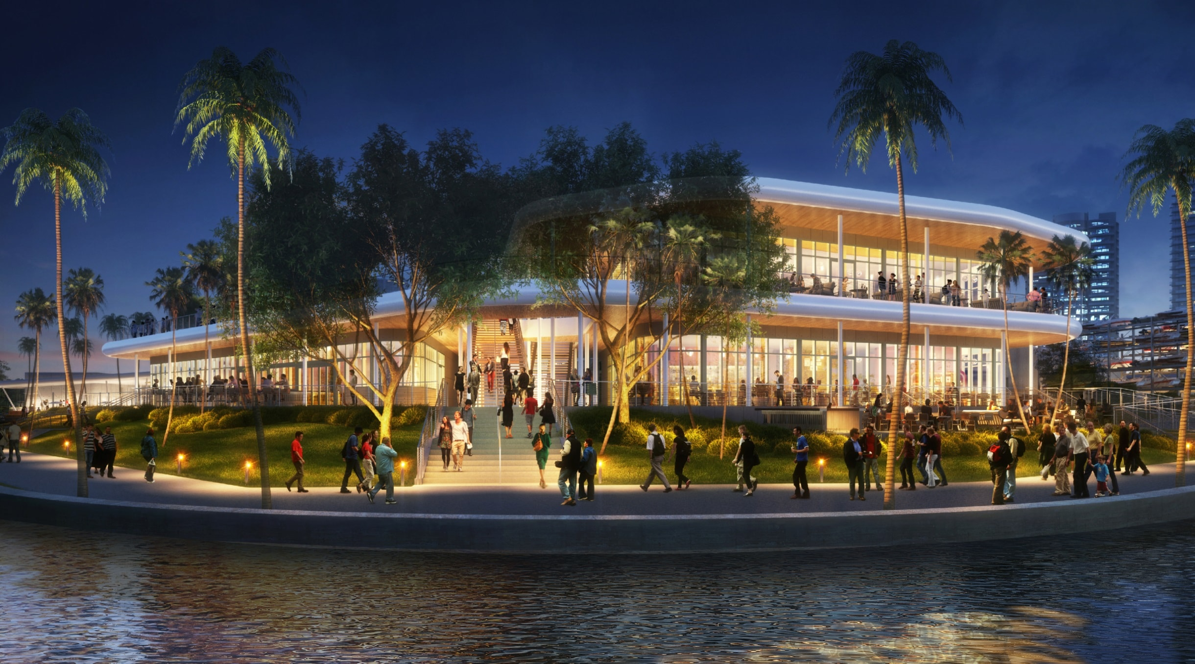 The Arquitectonica-Designed Redevelopment Of Coconut Grove's Historic Pan Am Airways Base Submitted To City