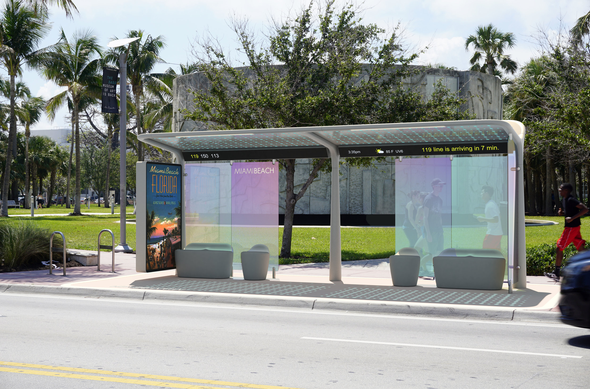 Pininfarina Wins Red Dot Award For Design Concept of 2019 For Pininfarina Bus Shelters For City Of Miami Beach