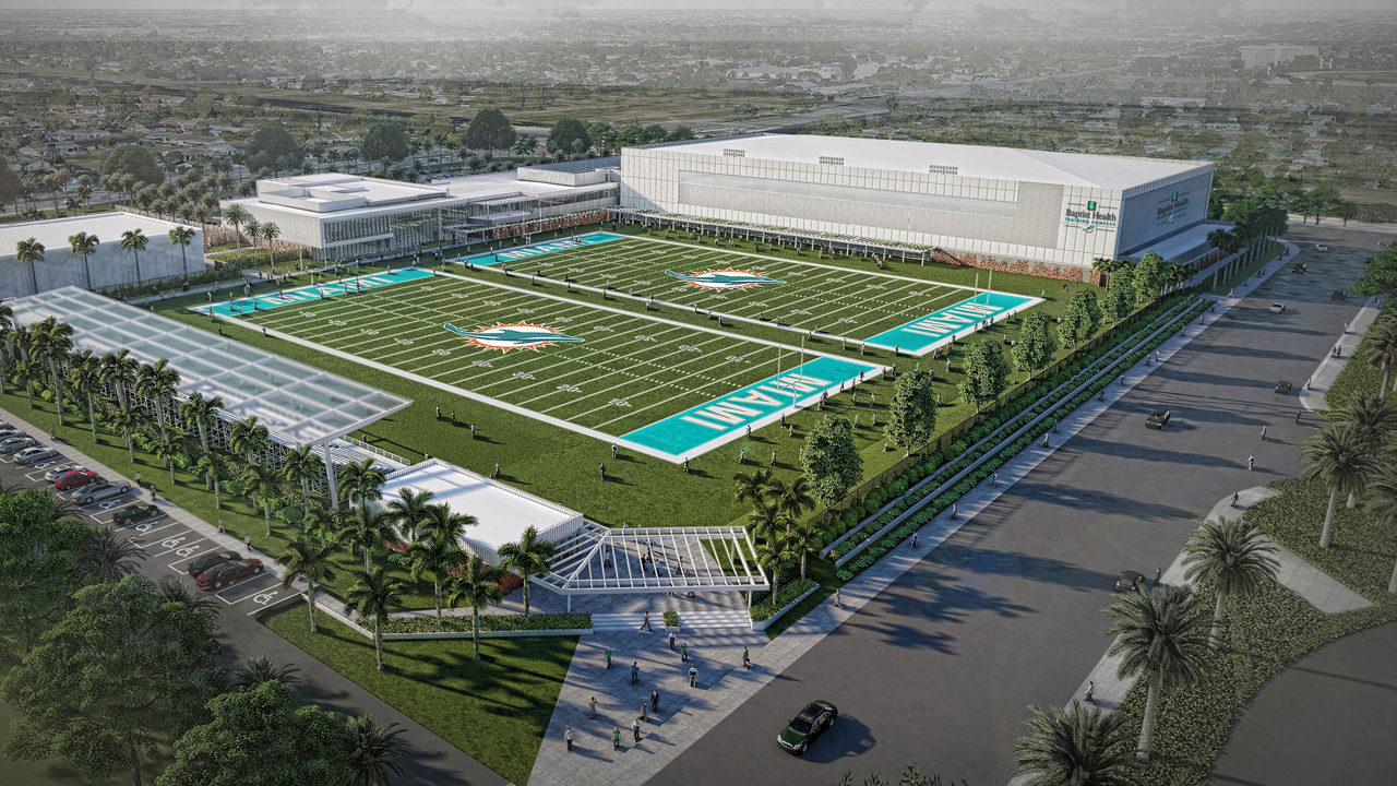 Miami Dolphins Break Ground On Best In Class Training Complex At Hard Rock Stadium