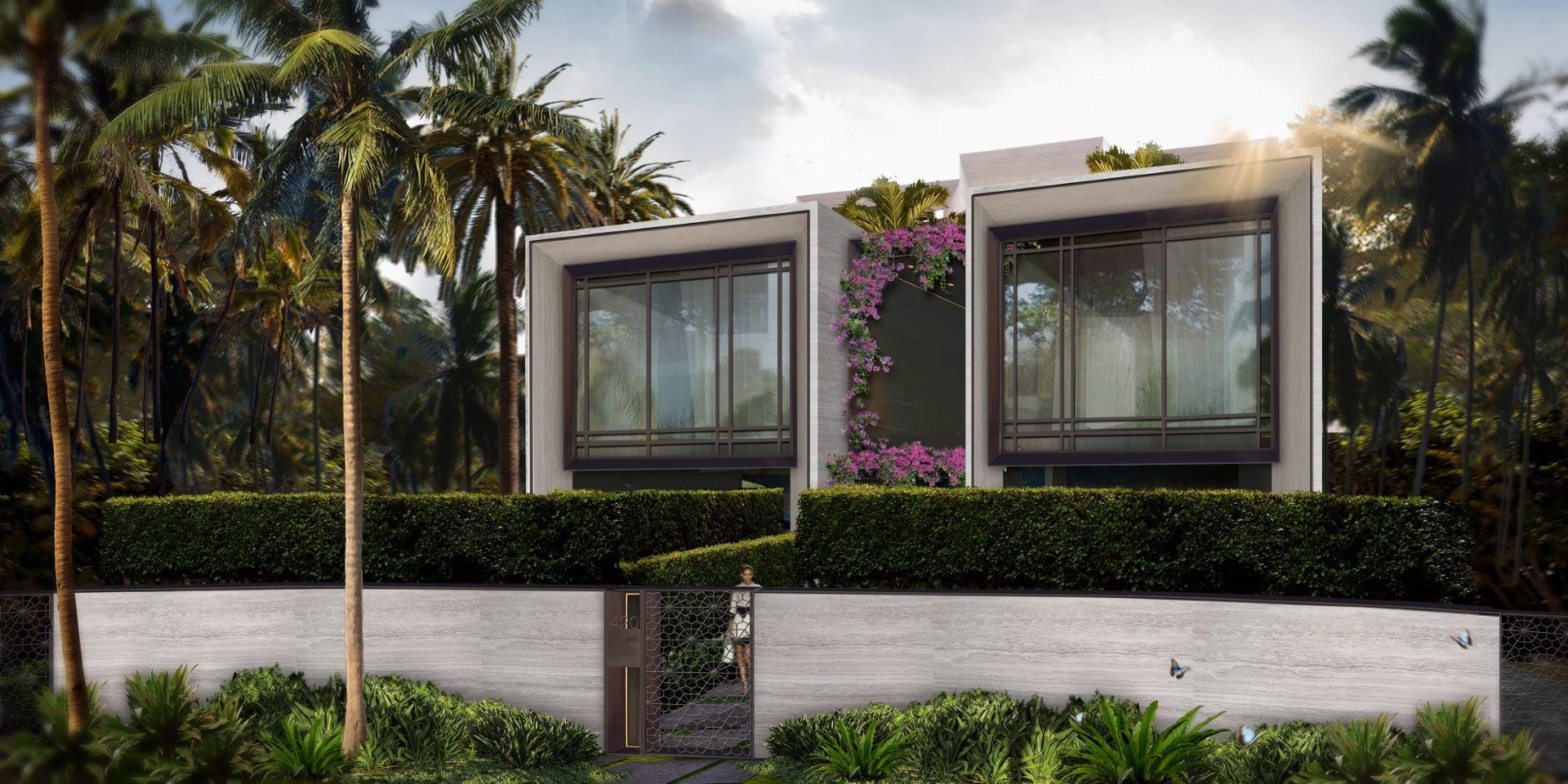 New Tropical Modern Residence Planned On Hibiscus Island Lot Recently Sold By Moishe Mana
