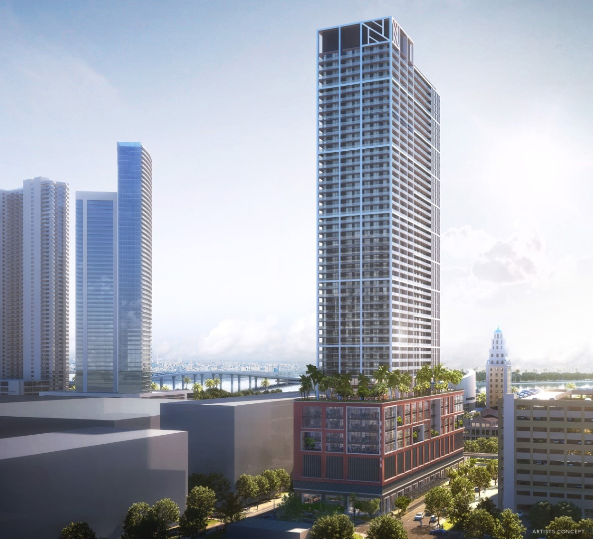 The Arquitectonica-Designed Short Term Rental Project Natiivo In Downtown Miami Reveals New Renderings