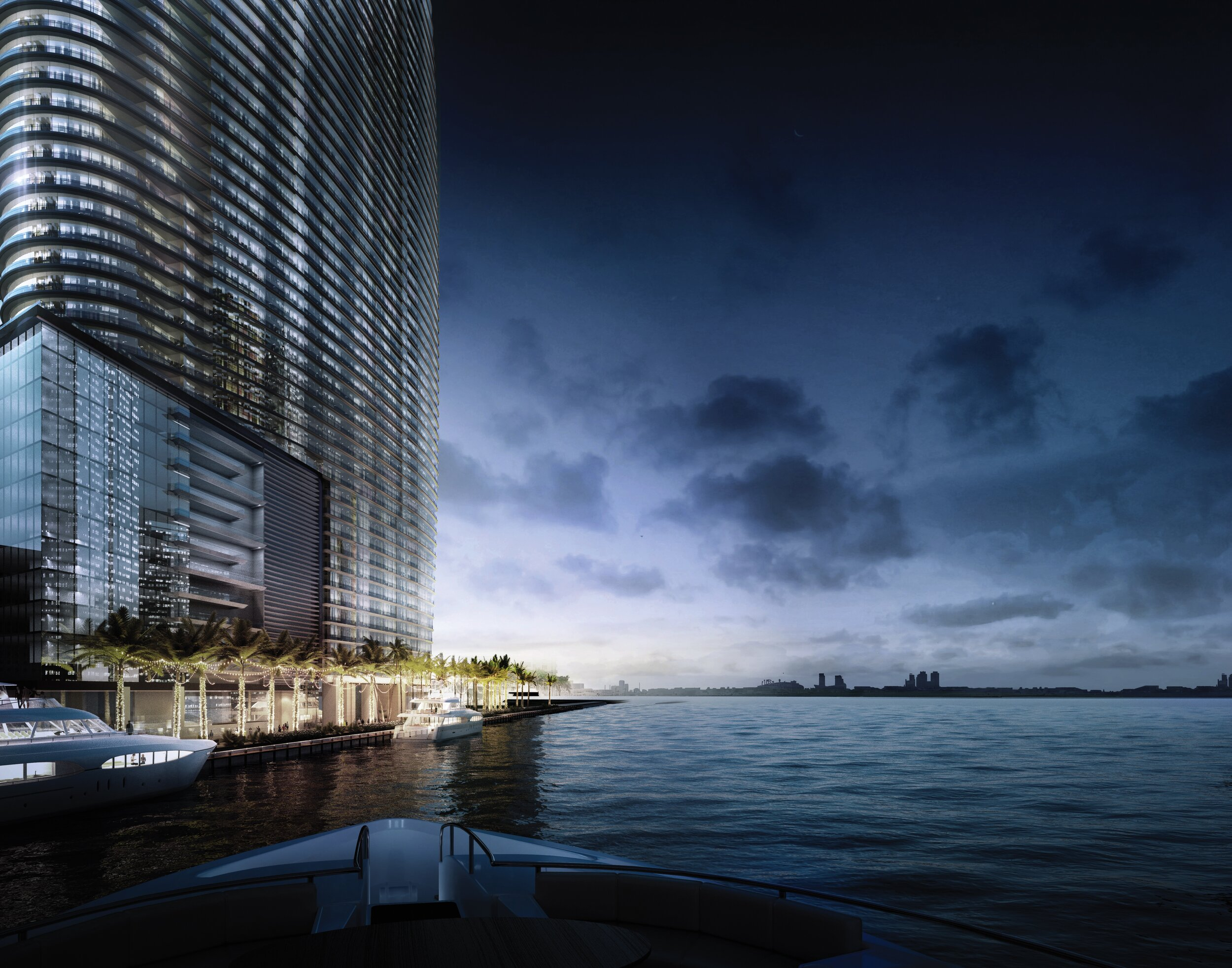 Aston Martin Residences Miami Adds Private Superyacht Marina Offering Dockside Arrival & Moorage