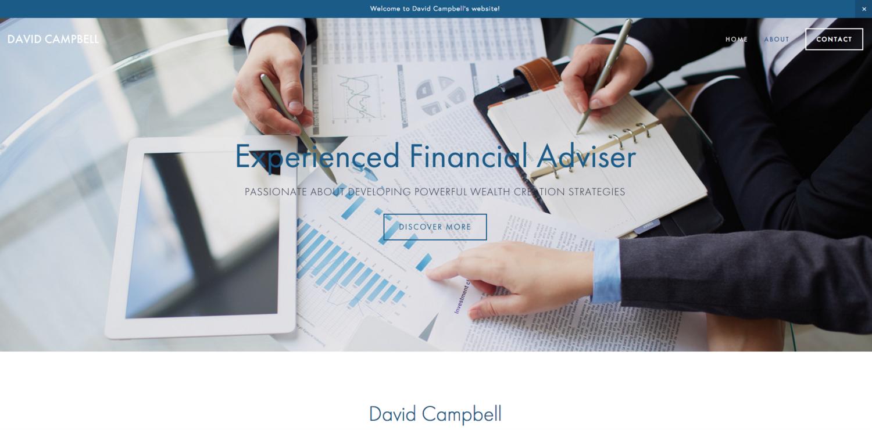 David Campbell website by Social Star