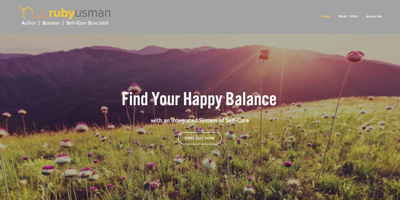 Ruby Usman website by Social Star