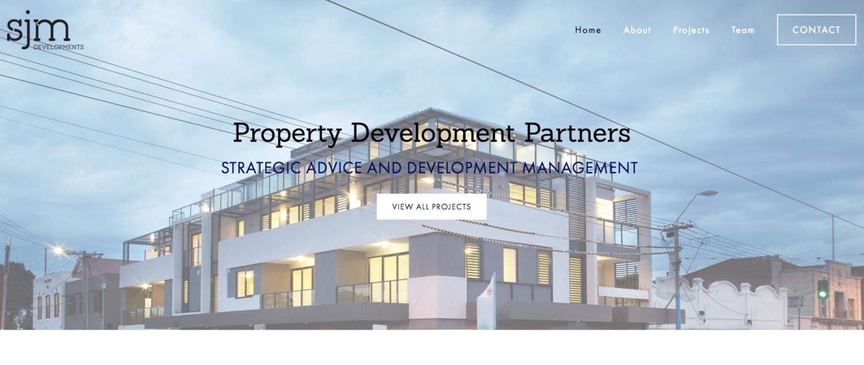 SJM Development website by Social Star