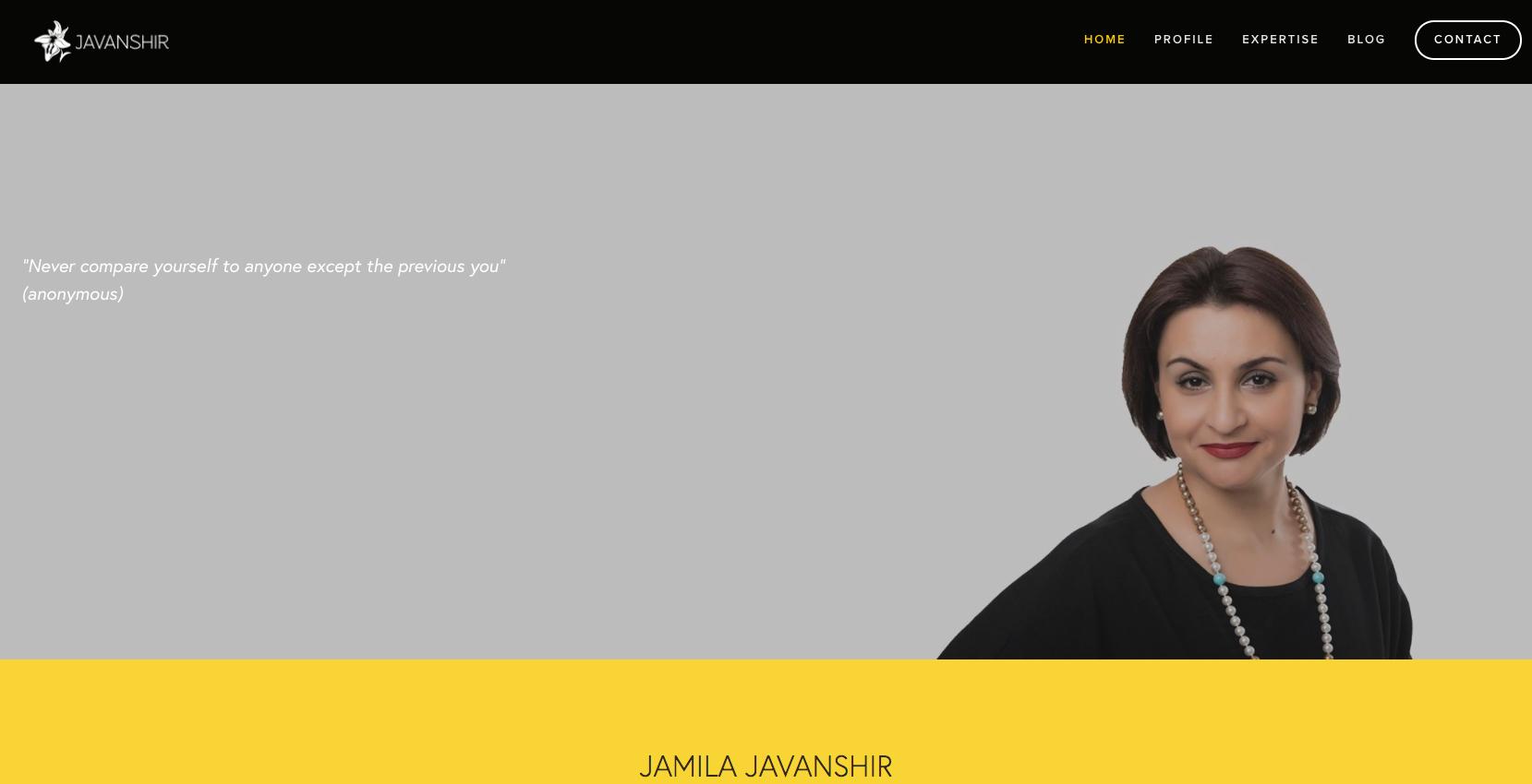Jamila Javanshir website by Social Star