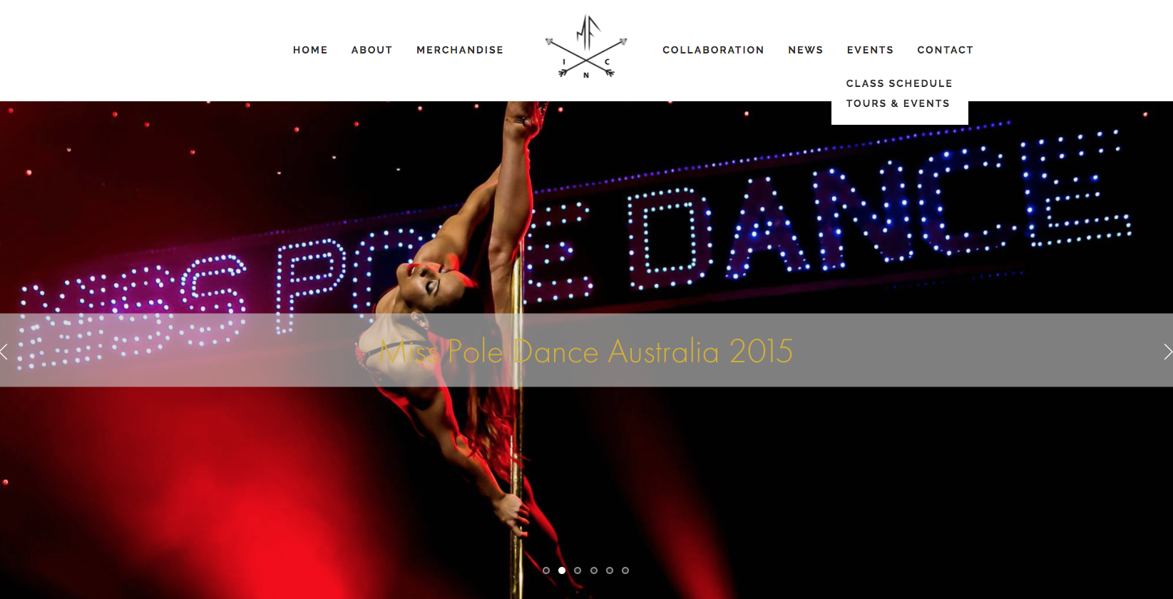 Miss Filly Pole Dancer website by Social Star