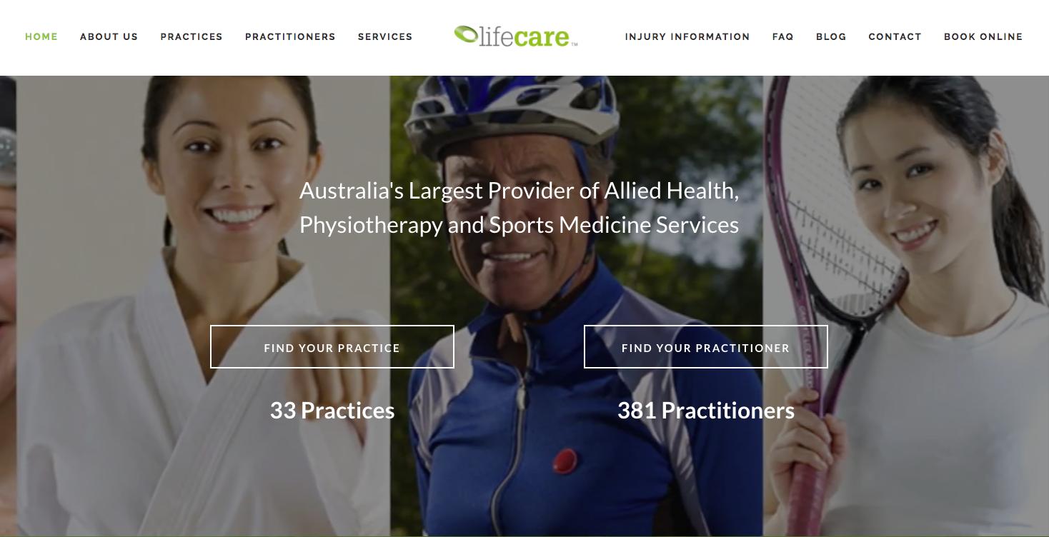 Lifecare website by Social Star