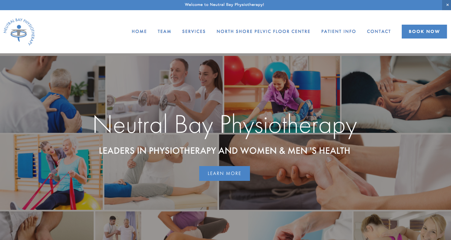 Neutral Bay Physiotherapy website by Social Star