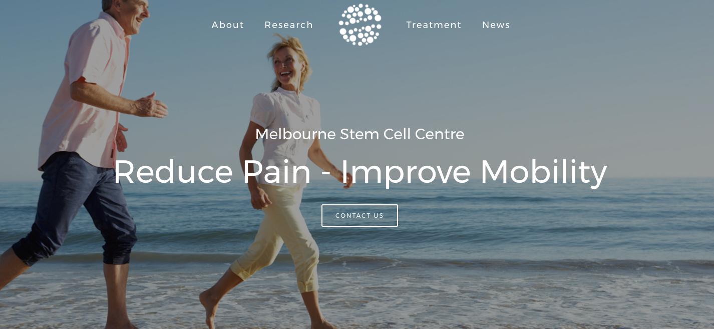 Melbourne Stemcell Centre website by Social Star