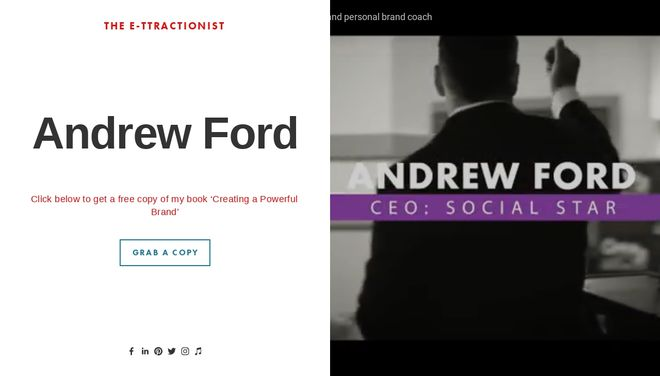 Andrew Ford website by Social Star