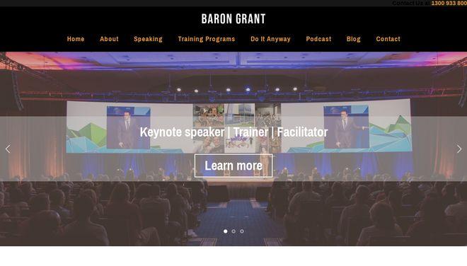 Baron Grant website by Social Star