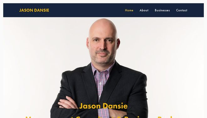 Jason Dansie website by Social Star