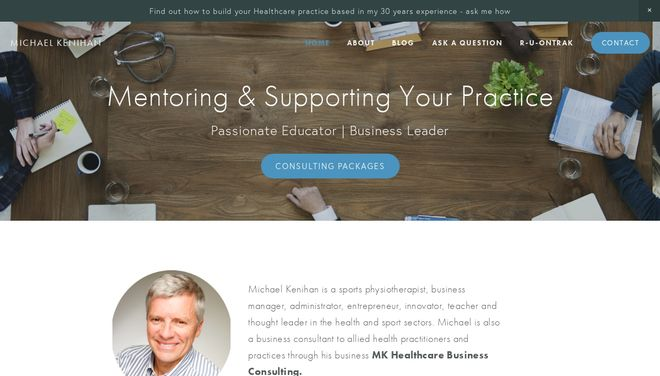 Michael Kenihan website by Social Star