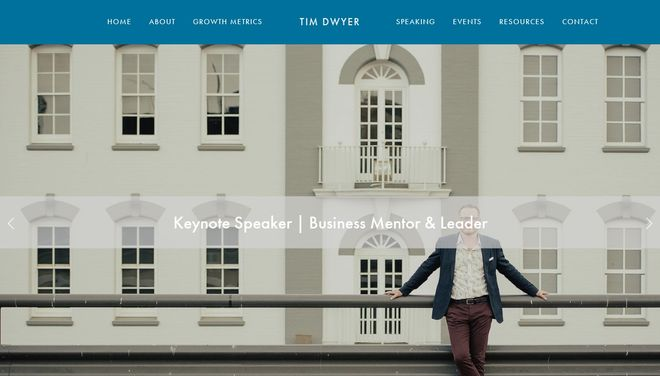 Tim Dwyer website by Social Star
