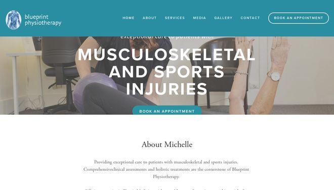 BluePrint Physio website by Social Star