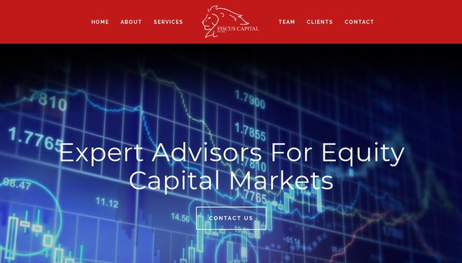 Fiscus Capital website by Social Star
