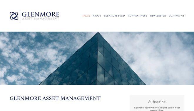 Glenmore Asset Management website by Social Star