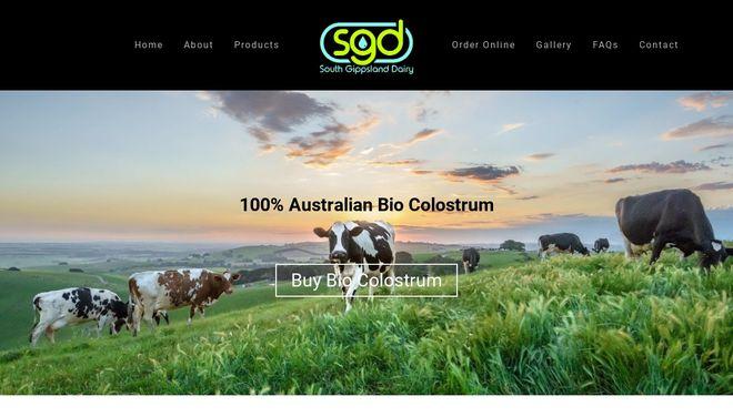 South Gippsland Dairy website by Social Star