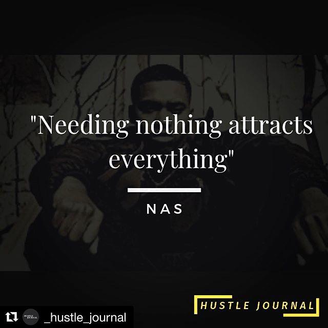 #Repost @_hustle_journal ・・・ #mondaymotivation big Motivation from one of the 🐐🐐 King Nas! . . . . . #Hiphop #raplyrics #rap #hustle #hustlejournal #productivity #nas # goat #rapper #attraction #lawofattraction #blackbloggers #blackswhoblog #clevelandbloggers