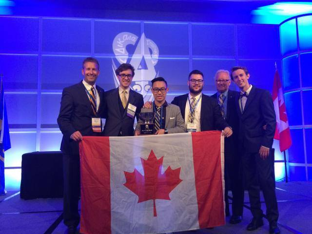 The Alberta chapter at DU's International Leadership Institute accepting an award for placing amongst the top in North America and #1 in Canada - a title we've held for more than five years!