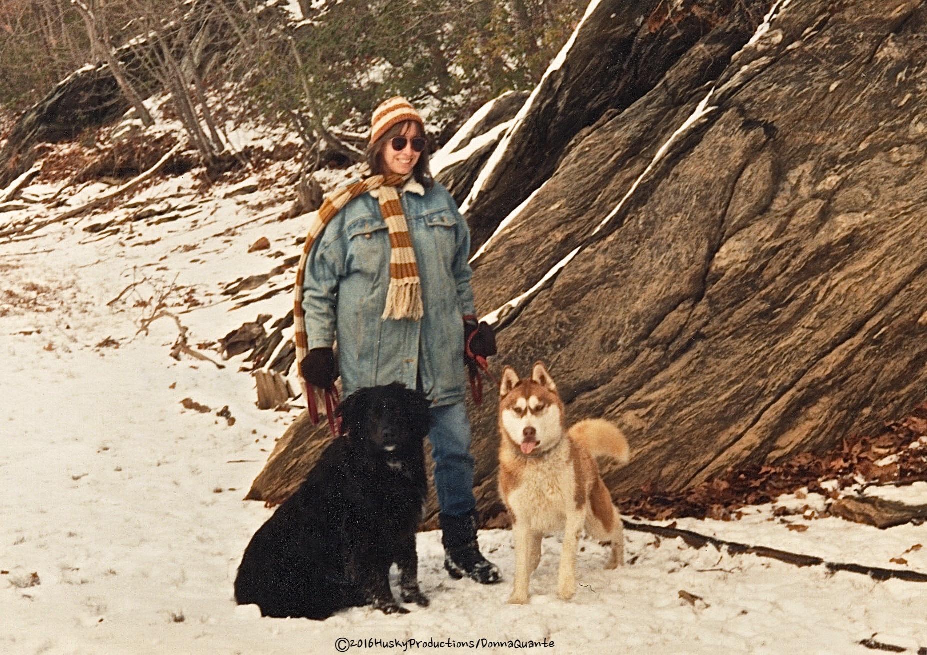 Me, Annie-my pound puppy and Chena, CD.