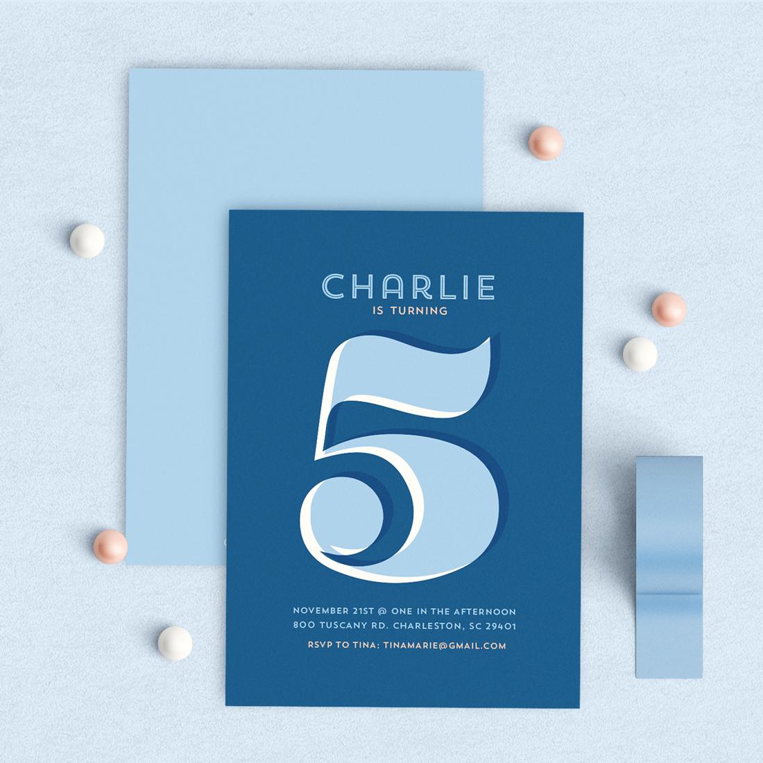 The Big 5!     Light blue Navy Invitation, Pink Navy Invitation, Typography Invitation, Navy Birthday Invitation, Modern kids birthday invitation, Pink Navy
