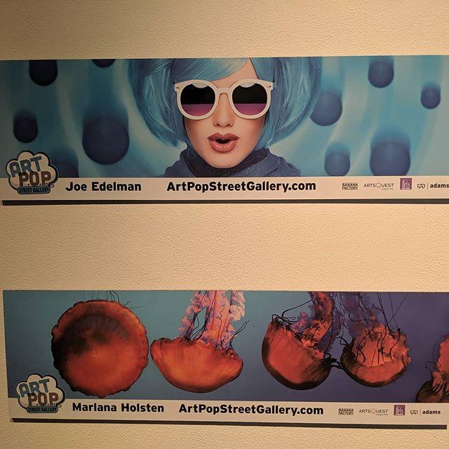 Sorry, better pictures of the Artpop Billboards at Butz Gallery  #glassart #glassartist #abstractart #abstractartist #mineralglass #mineralglassartist #artpopeastonpa  #bananafactory_pa #artsquest #aqglass