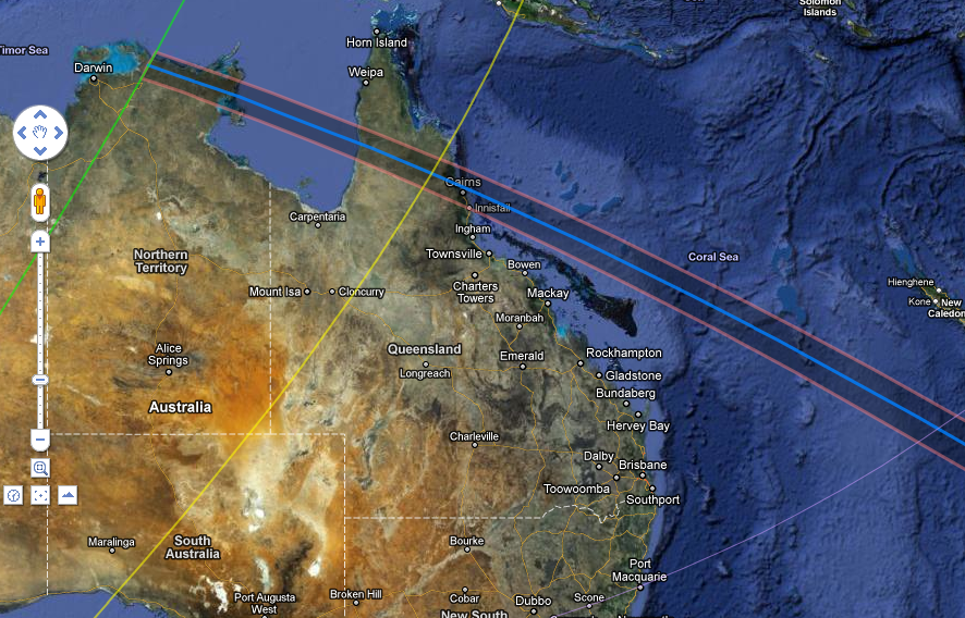 That's it for this eclipse, not many options but CAIRNS was the PERFECT choice!!!