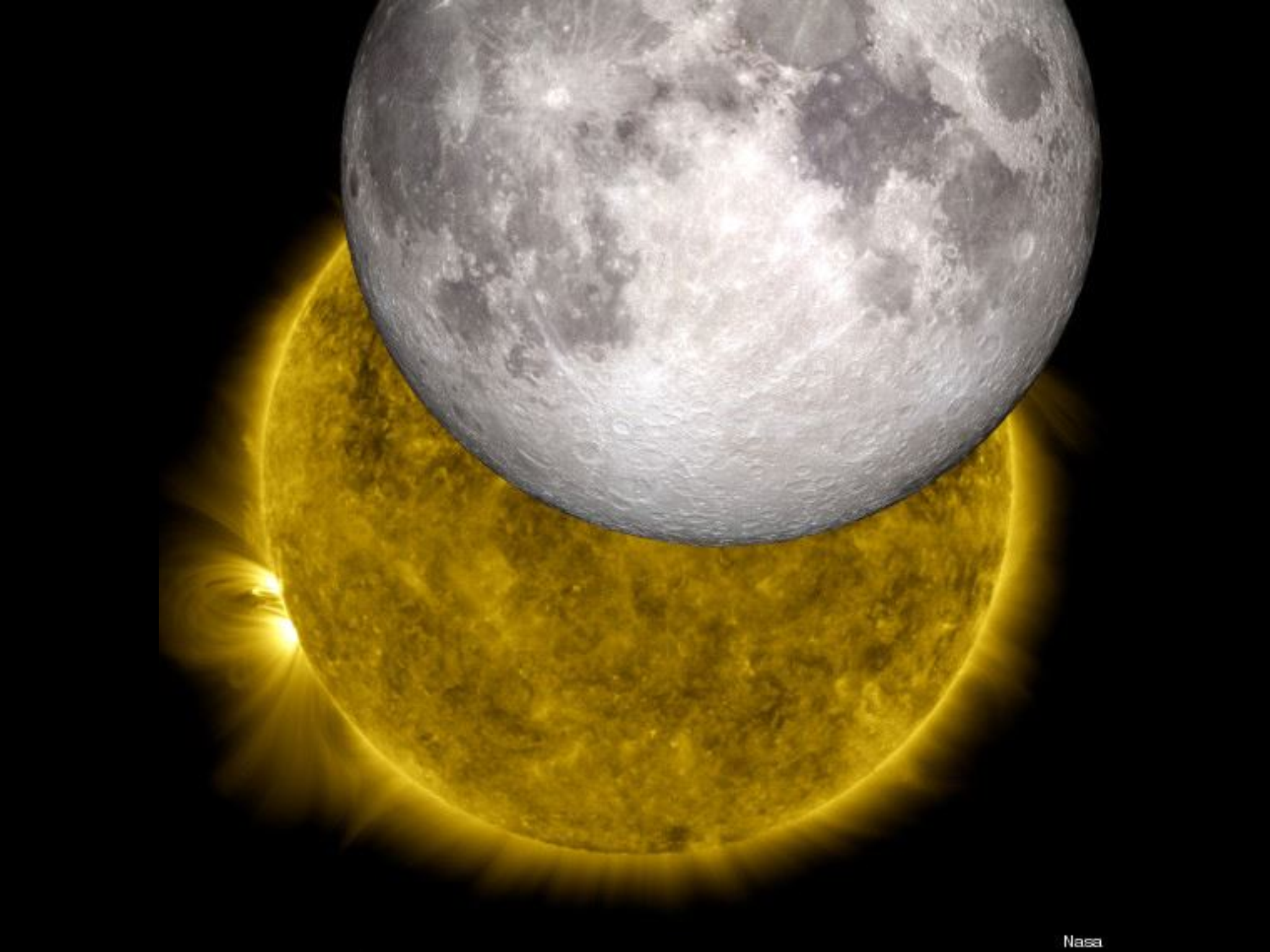 Given the sun is 400 X bigger than the moon, the fact they appear the exact same size is... miraculous!