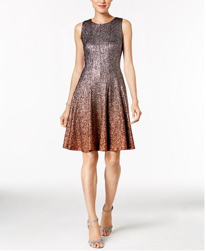 SEQUIN OMBRE DRESS: MACY'S