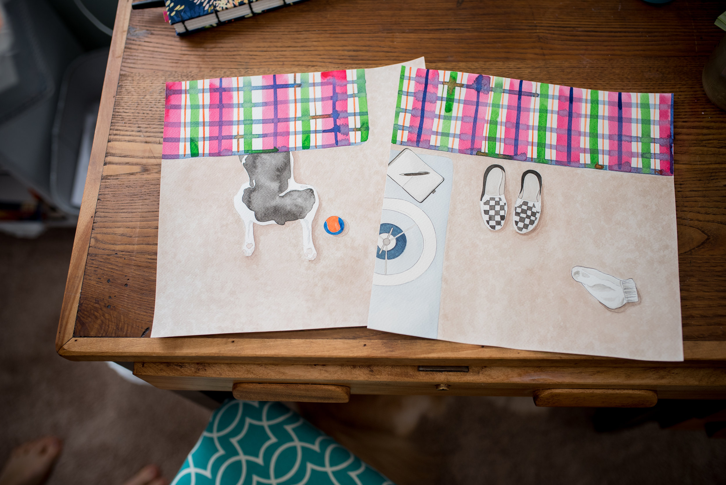 Illustrations for a children's book Amy is working on.