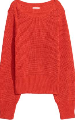 H&M Orange Knit Sweater