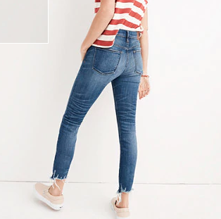 "9"" High-Rise Skinny Crop Jeans - Madewell (similar)"