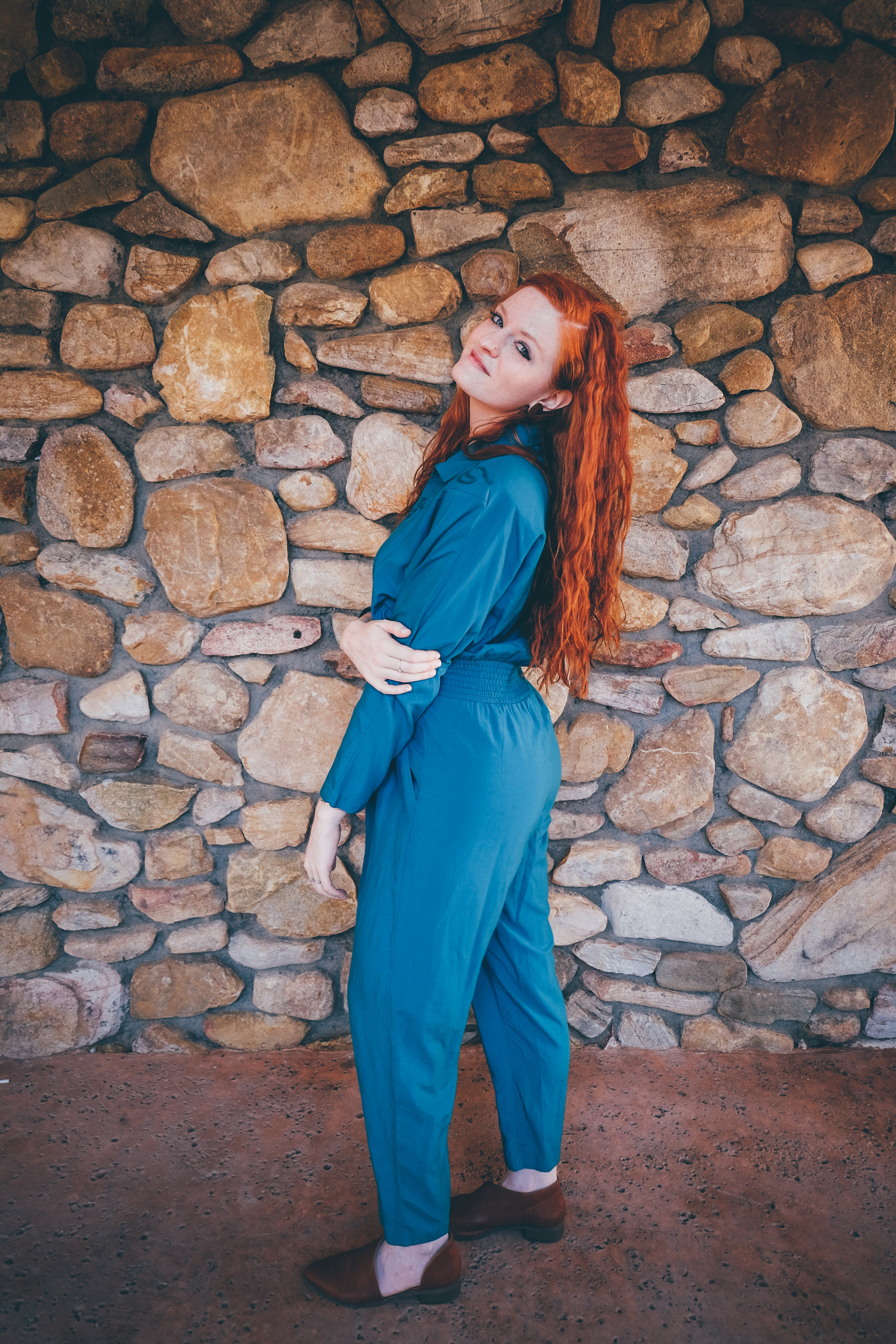 vintage jumpsuit - fashion blog - how to thrift