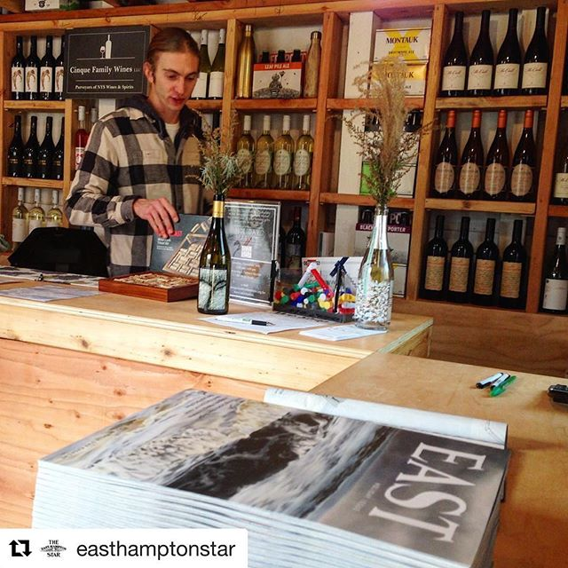 #Repost @easthamptonstar ・・・ Pick up a copy of the latest East in copies of The Star this week or at our friends across the East End, including @amagansettwinestand open 12-7 through Sunday.
