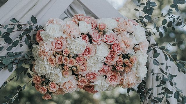 Blushing with joy with how the #floralarch turned out @gramercymansion