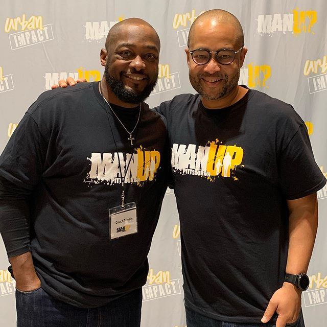 Great day preaching at #ManUp in Pittsburgh and hanging with @steelersnationnfl coach @officialmiketomlin Now back in the Bay ready to preach tomorrow @alcf_mv