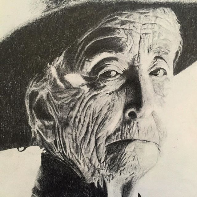 Old drawing of Georgia O'keeffe I did in high school. I owe a lot to my art teacher, the best there is, the Great James Ellison @ellisonjamesb He is the one who recommended I go to Otis @otiscollege which lead me on a fruitful career path in digital media, the TV biz and all that Jazz. Forever grateful 🙏 #art #artteacher #artschool #drawing #sketch #artist #pencilandpaper #sketchbook #portrait #artstudies