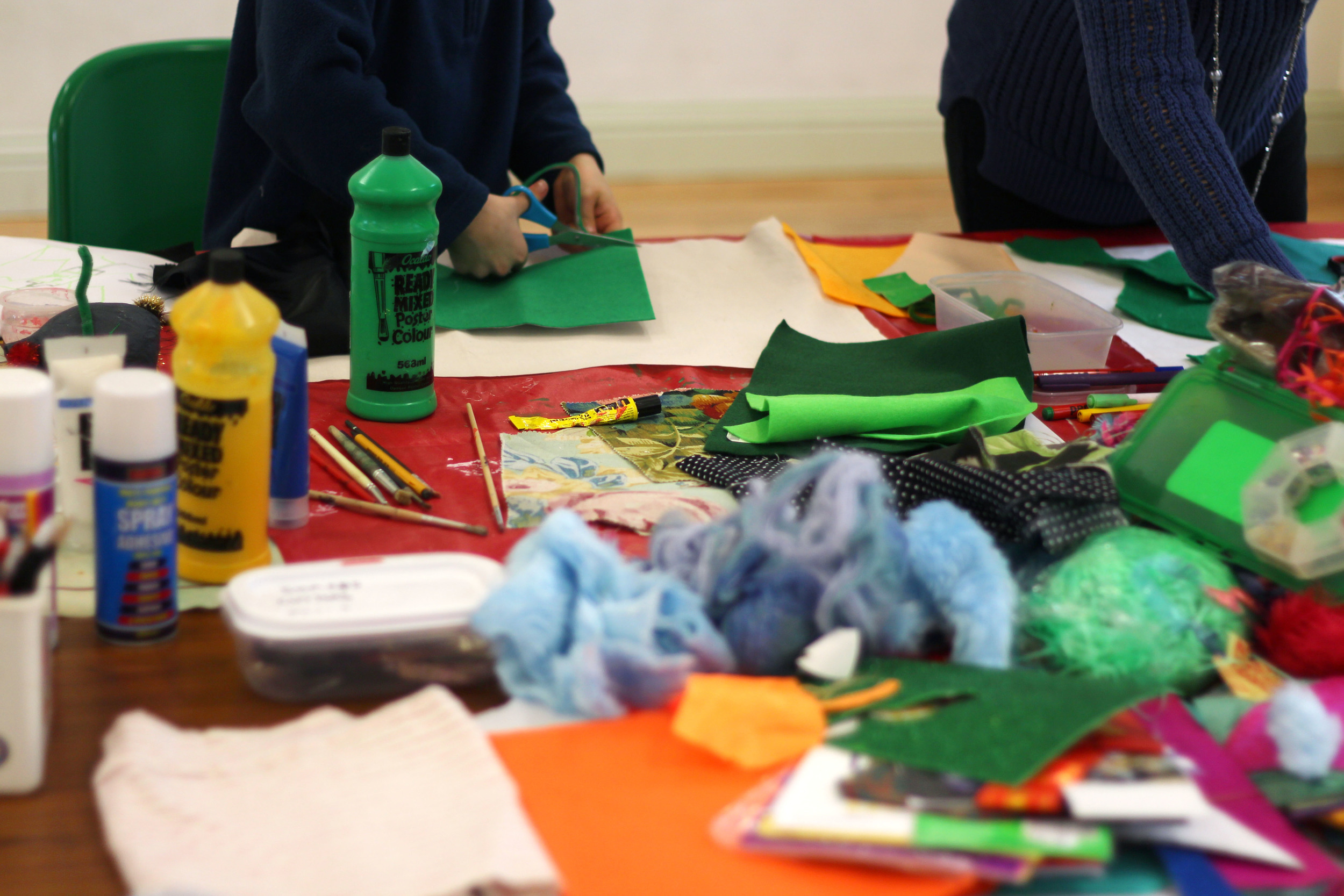 Flag-Making with Home Schooling Group