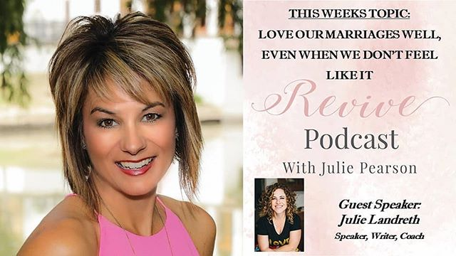 Hey tomorrow I am honored to be a guest on #Revivepodcast with Julie Pearson.  Revive Podcast is an umbrella ministry of @revival4women. I will be sharing my God story to help strengthen and transform the lives of other women.  I would love for you to tune in and check out my show on facebook live Wednesday at 10 a.m. @juliepearsonblog or on itunes, google podcast, stitcher, podbean  #revivepodcast #wifelab #marriagerevolution #prayerwarrior #prayingwife