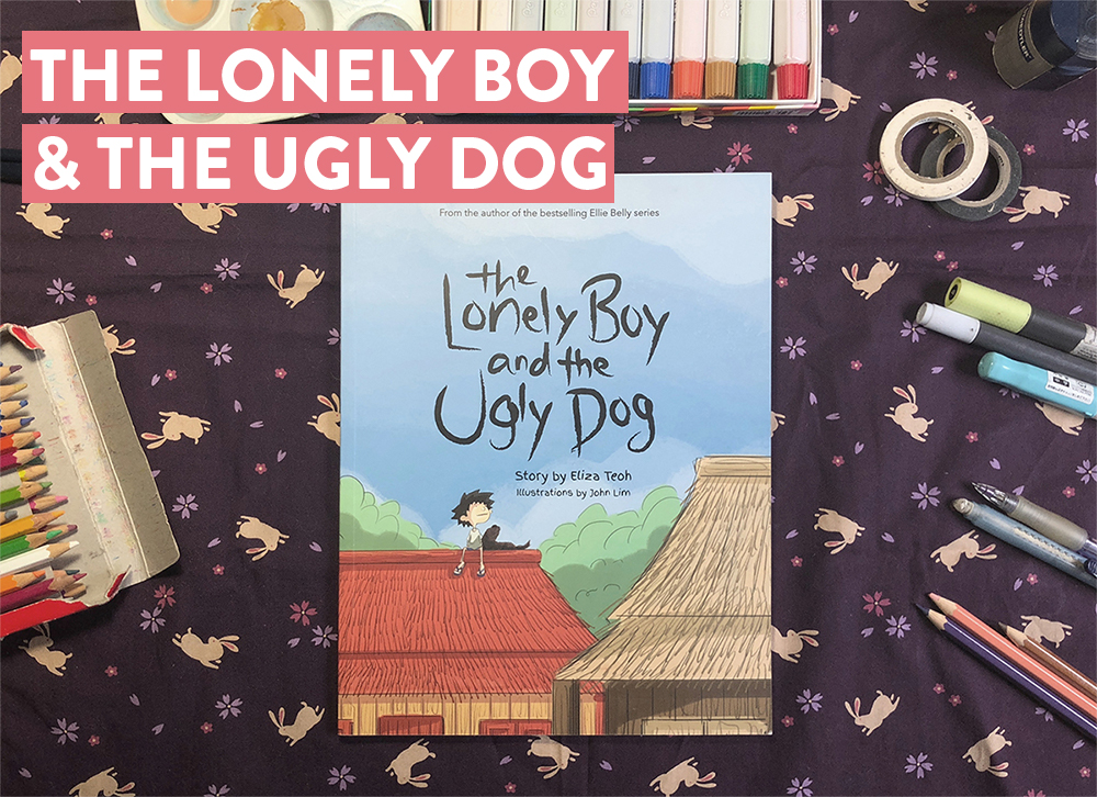 "- ""The Lonely Boy & Ugly Dog"" a children picture book written by famous author Eliza Teoh, working together with the author and publisher to create the art direction, illustration and layout."
