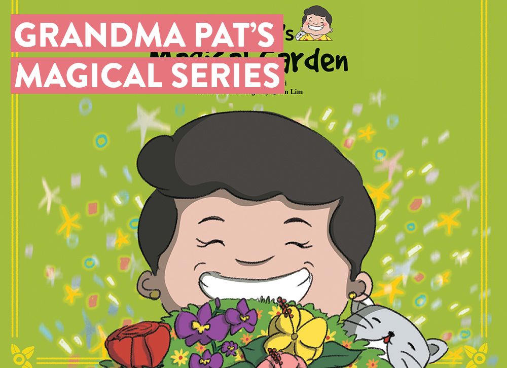 "- ""Grandma Pat's Magical Adventure"" a 6 part series children picture book written by author Dolly Shanti, following grandma pat to visit her magical garden, wardrobe and all her friend and festivals based in Singapore, give a different perspective to the readers about Singapore culture thought her eyes."