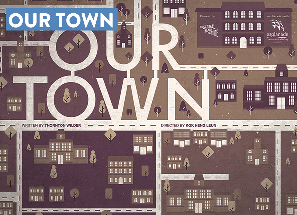 "- The art direction of ""Our Town"" Derive from the play itself, researching with the director of the play and focusing the story content. Looking into a complex world of the new and the old. Using a 60's art direction to create a more sepia tone but a more vector illustration to portray the new."